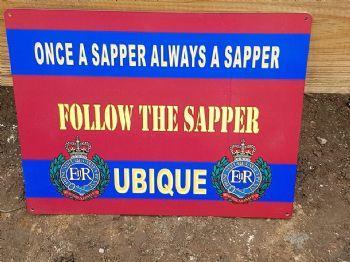 Follow the sapper sign